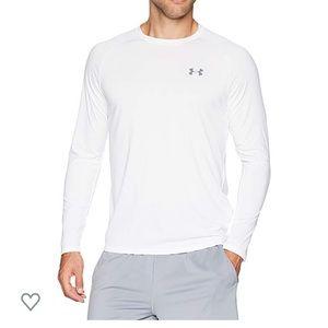 Men's White Long Sleeve Active Wear Shirt
